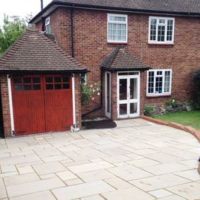 indian sand stone driveway
